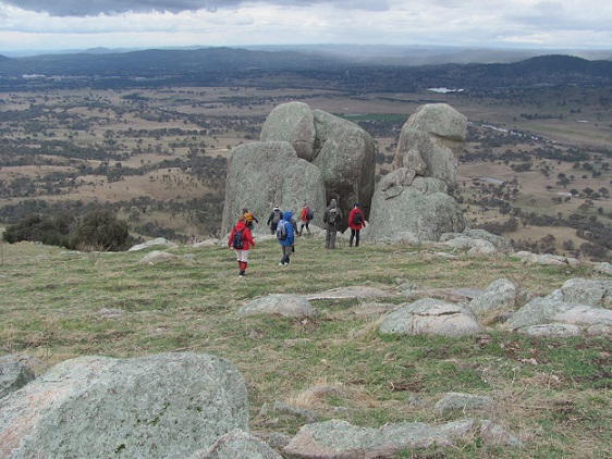 Castle Hill, ACT, one of the 50 peaks visited on Club trips in 2011