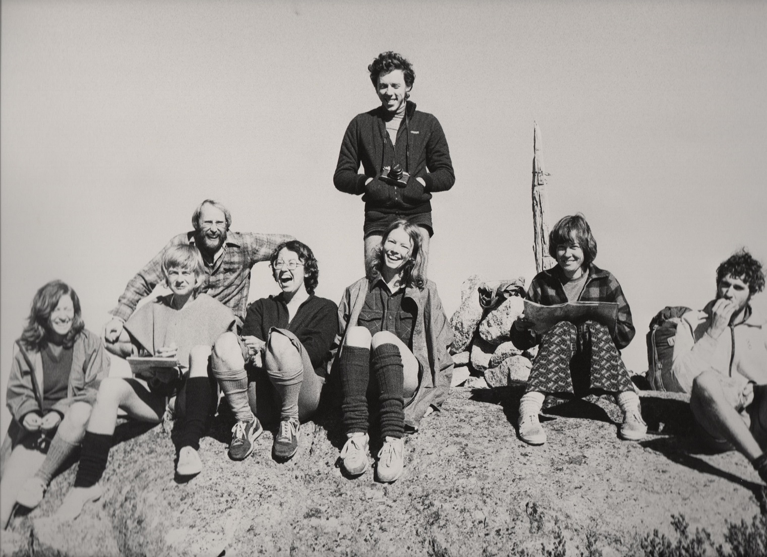 Top of Mt Kelly, about 1980