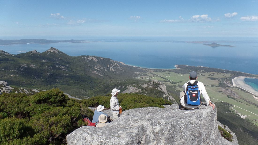 Top of Strezlecki Peak, Flinders Island