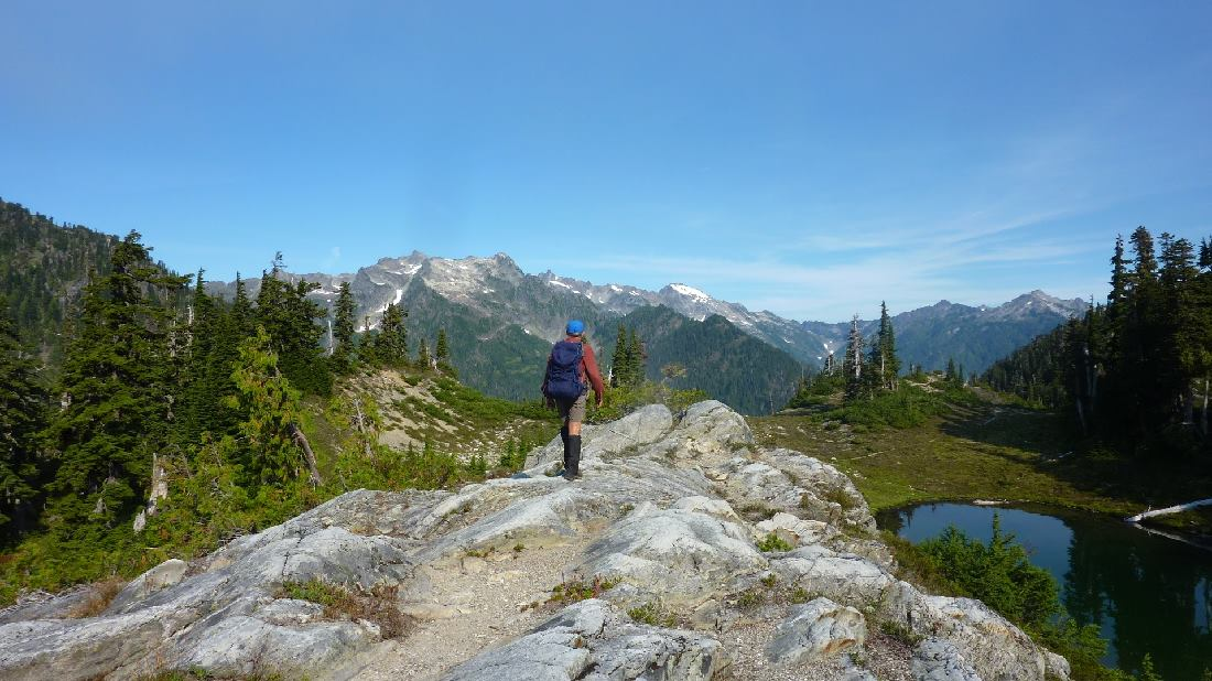 Rocky ridge near Martins lakes. Olympic NP, by Gerald Dodgson