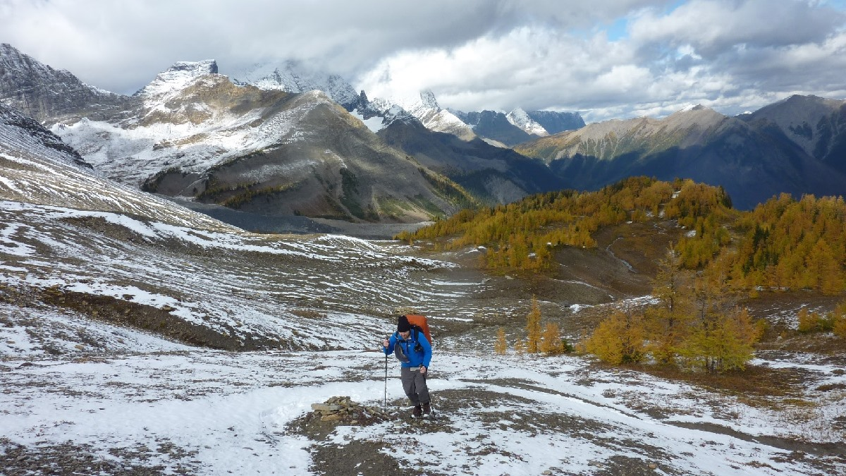 Heading up to Numa Pass, Rockwall Trail by Gerald Dodgson
